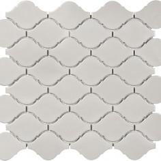 Ceramic Amp Stone Tiles White Glossy Lantern Mosaic