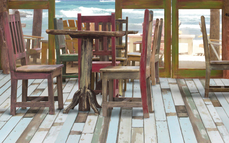 Laminate flooring cabin deck rlar850beachhous by for Beach house flooring pictures